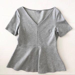 COS Light Grey Peplum T-shirt